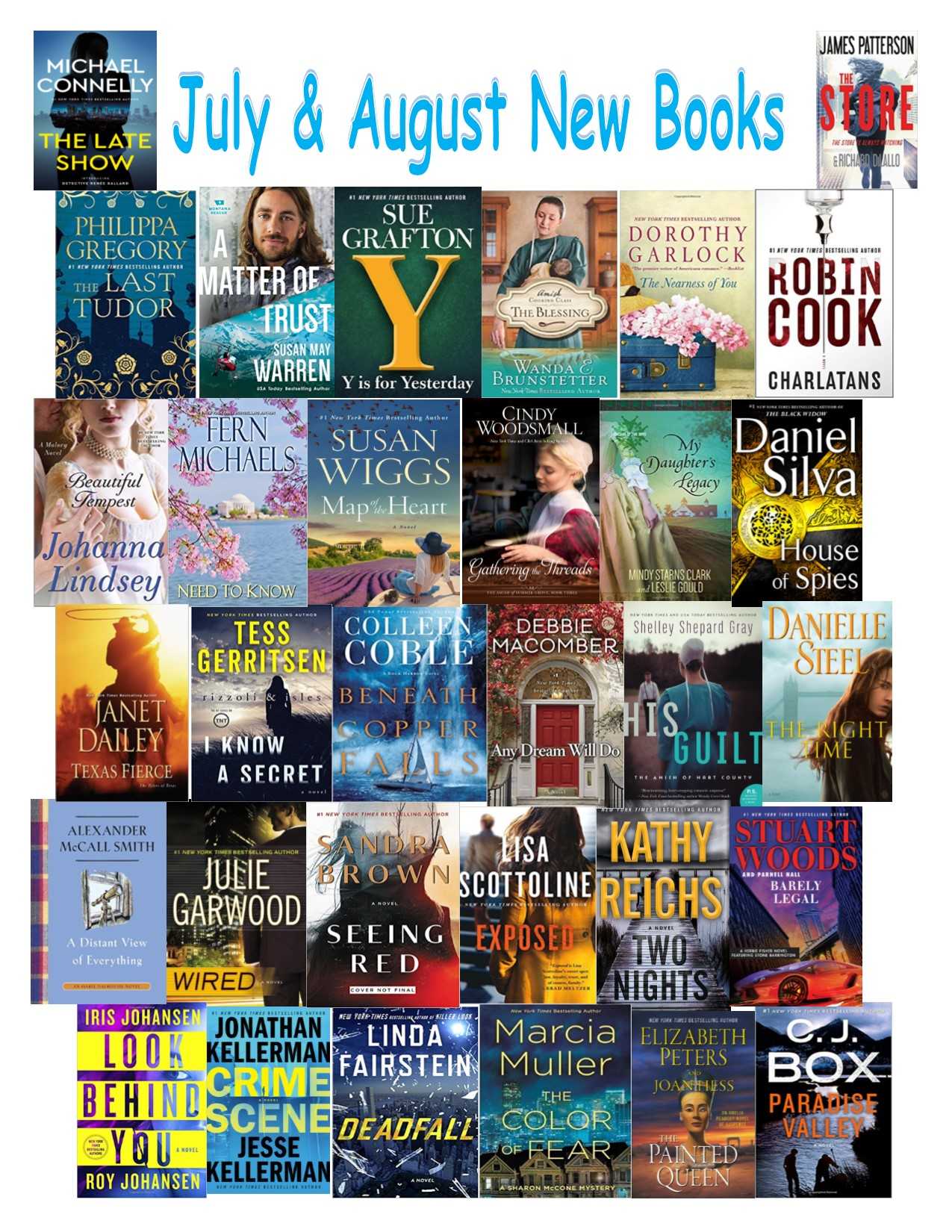 July and august new books